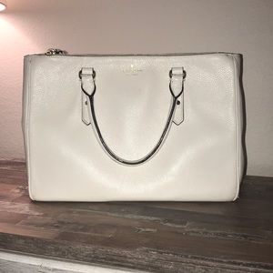 Kate Spade Larchmont Avenue Cityscape Purse Cream